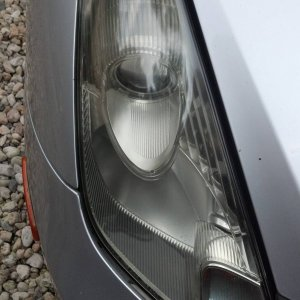 headlight after cleaning